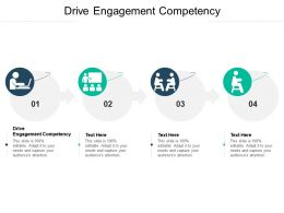 Drive Engagement Competency Ppt Powerpoint Presentation Ideas Example Topics Cpb