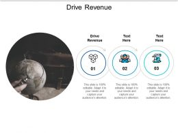 Drive Revenue Ppt Powerpoint Presentation Slides Background Cpb