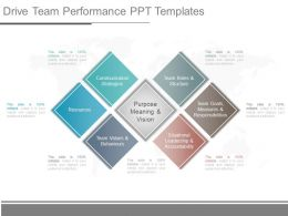 Drive Team Performance Ppt Templates