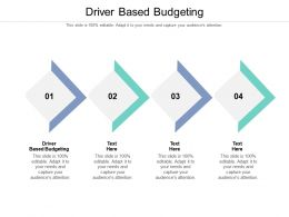 Driver Based Budgeting Ppt Powerpoint Presentation Styles Themes Cpb