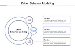 Driver Behavior Modeling Ppt Powerpoint Presentation Gallery Icon Cpb