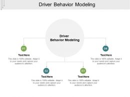 Driver Behavior Modeling Ppt Powerpoint Presentation Icon Smartart Cpb