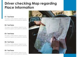Driver Checking Map Regarding Place Information
