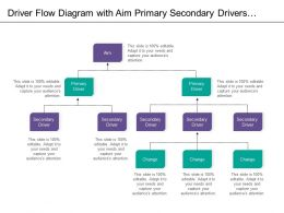 Driver Flow Diagram With Aim Primary Secondary Drivers And Changes