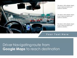 Driver Navigating Route From Google Maps To Reach Destination