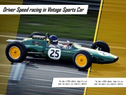 Driver Speed Racing In Vintage Sports Car
