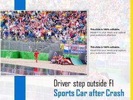 Driver Step Outside F1 Sports Car After Crash