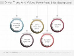 Driver Trees And Values Powerpoint Slide Background