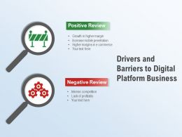 Drivers And Barriers To Digital Platform Business