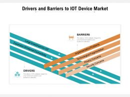 Drivers And Barriers To IOT Device Market