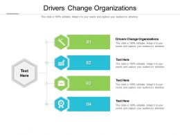 Drivers Change Organizations Ppt Powerpoint Presentation Slides Shapes Cpb
