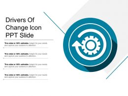 Drivers Of Change Icon Ppt Slide