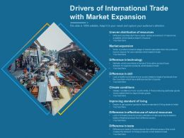 Drivers Of International Trade With Market Expansion