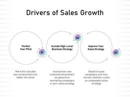 Drivers Of Sales Growth Business Strategy Ppt Powerpoint Presentation Guide