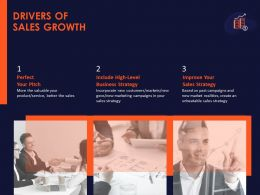 Drivers Of Sales Growth Ppt Powerpoint Presentation Slides Background