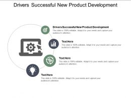 Drivers Successful New Product Development Ppt Powerpoint Presentation Model Cpb