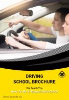 Drivers Training School Four Page Brochure Template