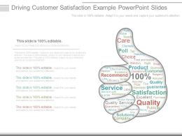Driving Customer Satisfaction Example Powerpoint Slides
