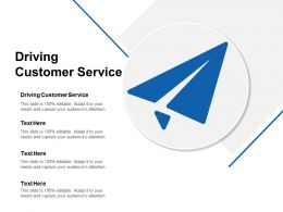Driving Customer Service Ppt Powerpoint Presentation Slides Background Designs Cpb