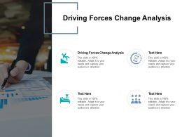 Driving Forces Change Analysis Ppt Powerpoint Presentation Layouts Infographics Cpb