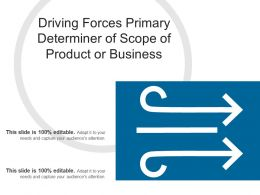 Driving Forces Primary Determiner Of Scope Of Product Or Business