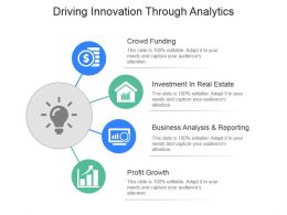 Driving Innovation Through Analytics Powerpoint Slide Background Designs