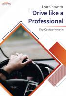 Driving Lessons Two Page Brochure Template