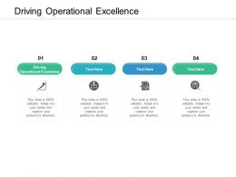Driving Operational Excellence Ppt Powerpoint Presentation Styles Templates Cpb