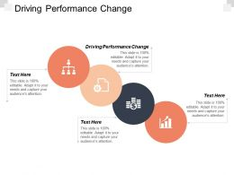 Driving Performance Change Ppt Powerpoint Presentation Styles Background Images Cpb