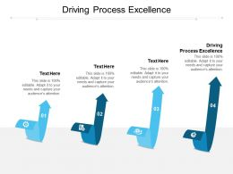 Driving Process Excellence Ppt Powerpoint Presentation Ideas Clipart Images Cpb
