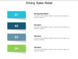 Driving Sales Retail Ppt Powerpoint Presentation Icon Structure Cpb