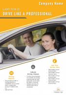 Driving School Pamphlet Two Page Brochure Template
