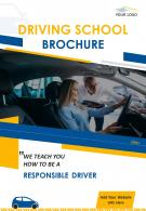 Driving Training School Four Page Brochure Template
