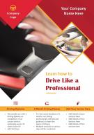 Driving Training School Two Page Brochure Template