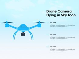 Drone Camera Flying In Sky Icon