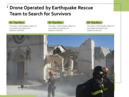 Drone Operated By Earthquake Rescue Team To Search For Survivors
