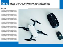 Drone Placed On Ground With Other Accessories