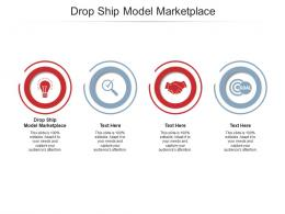 Drop Ship Model Marketplace Ppt Powerpoint Presentation Infographics Files Cpb