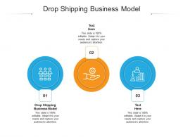 Drop Shipping Business Model Ppt Powerpoint Presentation Portfolio Portrait Cpb