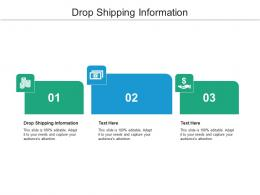 Drop Shipping Information Ppt Powerpoint Presentation Ideas Design Templates Cpb