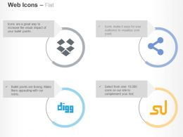 Dropbox Digg Stumble Upon Share Ppt Icons Graphics