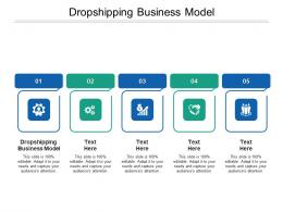 Dropshipping Business Model Ppt Powerpoint Presentation Infographics Graphics Download Cpb