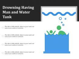 Drowning Having Man And Water Tank