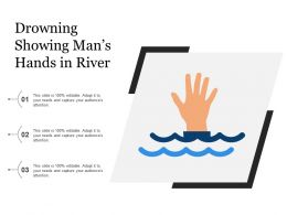 Drowning Showing Mans Hands In River