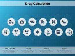 Drug Calculation Ppt Powerpoint Presentation Outline Examples