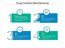 Drug Contract Manufacturing Ppt Powerpoint Presentation Infographics Clipart Images Cpb