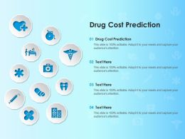 Drug Cost Prediction Ppt Powerpoint Presentation Pictures Slides