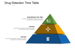 Drug Detection Time Table Ppt Powerpoint Presentation Styles Background Designs Cpb
