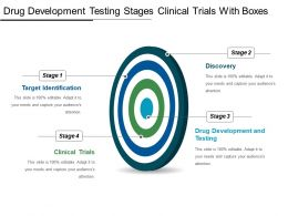 Drug Development Testing Stages Clinical Trials With Boxes