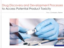 Drug Discovery And Development Processes To Access Potential Product Toxicity Complete Deck